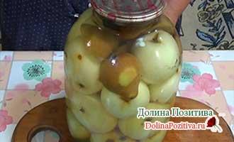 компот из яблок и груш