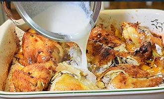 курица и сливки