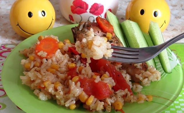 самая кусная курица с рисом