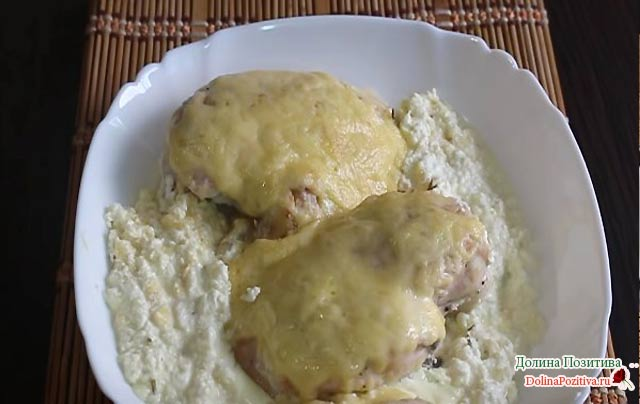 сливочная курица под сыром