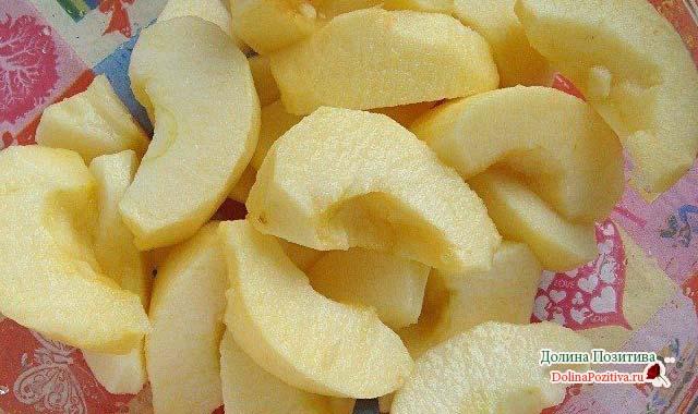 яблоки очищенные