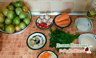 ингредиенты для засолки помидоров