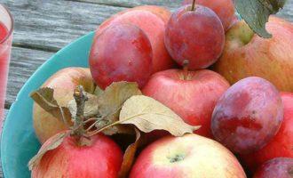 компот из яблок и слив на зиму