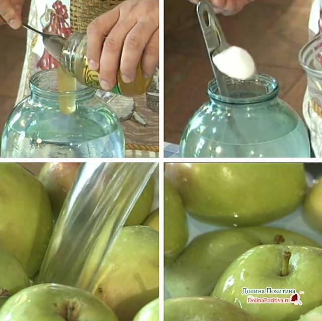 моченые яблоки на зиму без сахара