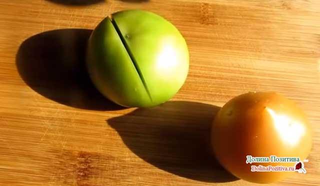 надрезанные помидоры