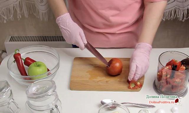 нарезка помидор