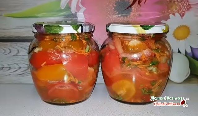 помидоры по корейски с луком и морковью