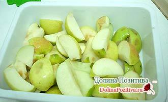 яблоки кусочками