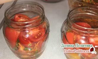 заготовка на зиму помидоры по-корейски