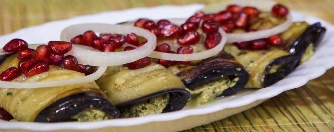 баклажаны по-грузински с грецкими орехами