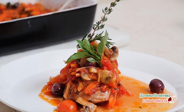 жареная курица по-итальянски