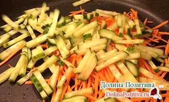морковка и огурец
