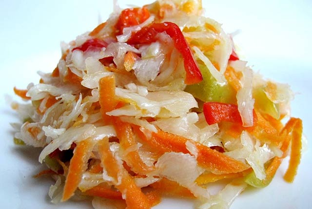 капуста с болгарским перцем салат
