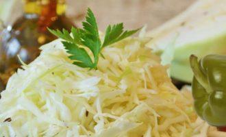 салат с капустой и болгарским перцем на зиму