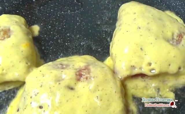 фаршированное филе на сковороде
