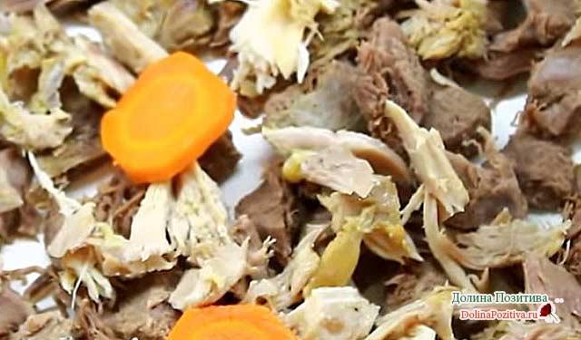 говядина кусочками и морковь