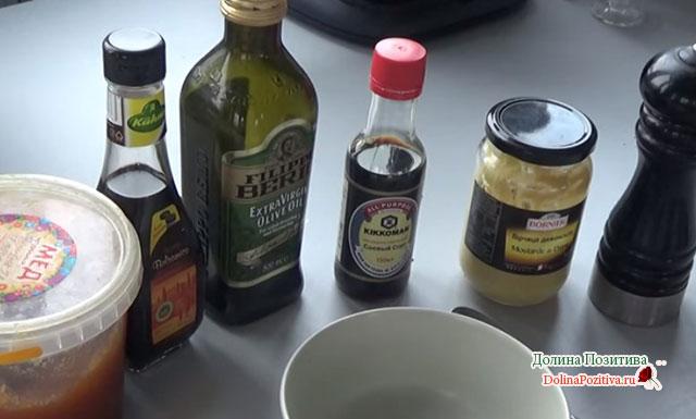 салатная заправка с медом