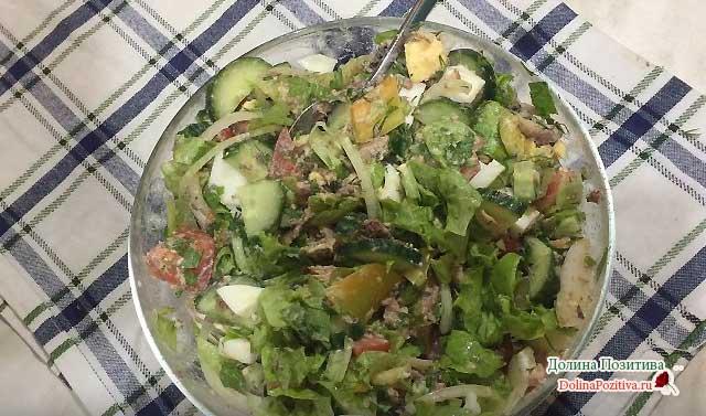 салат на новый год без майонеза