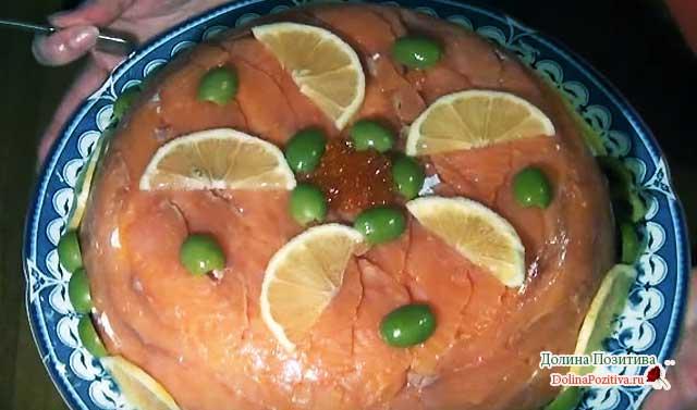 салат-тортик на новый год
