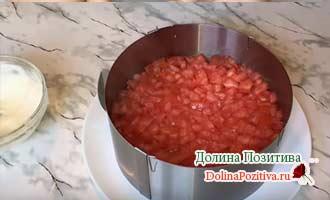 слой помидора в салате
