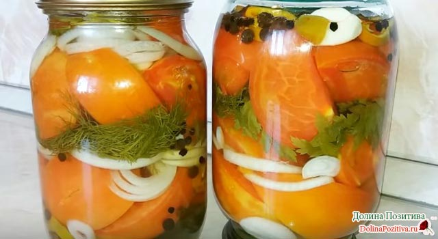 томаты с луком