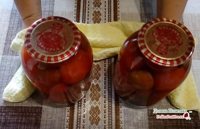 консервация слив и томатов