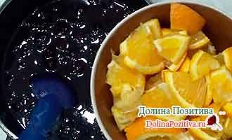 вишня с апельсинами