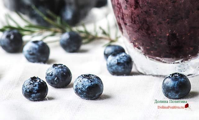 черничное варенье на фруктозе