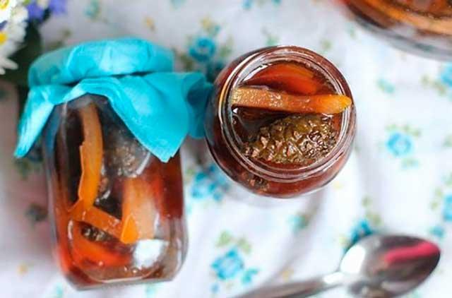 варенье из шишек с апельсином