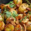 картошка с опятами