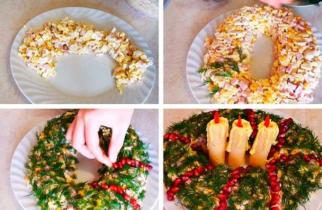 новогодние свечи салат