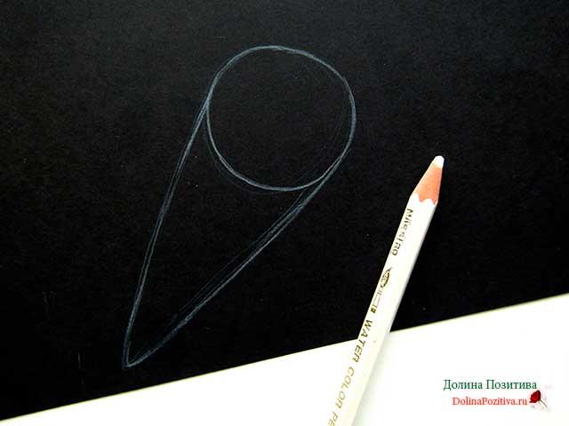 Как нарисовать елочную игрушку карандашом поэтапно