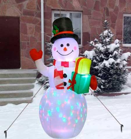надувной снеговик