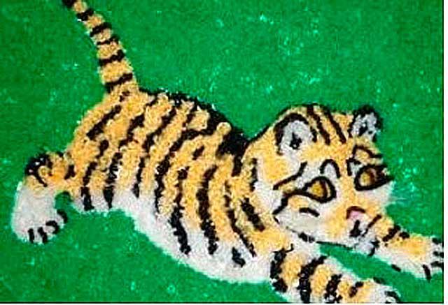 тигр из крупы
