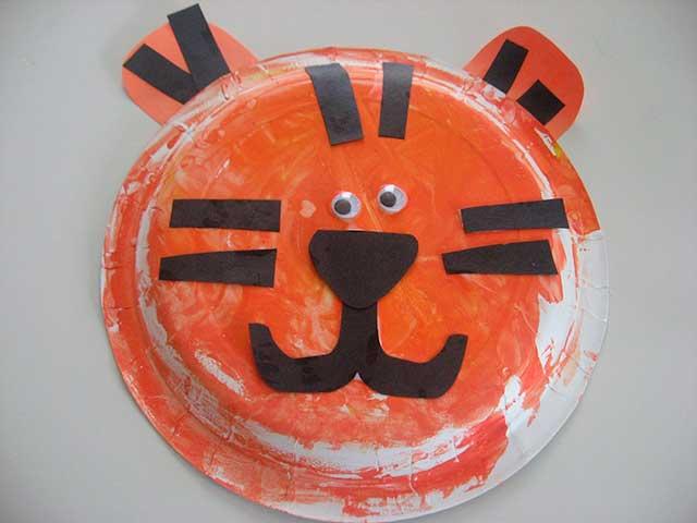 тигр из тарелки